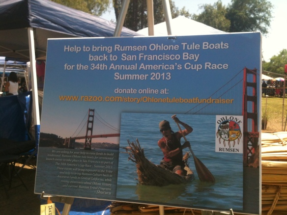 Tule Boat Campaign Poster at Powwow